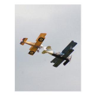 Sopwith Camel and Fokker D.VII Models Postcard