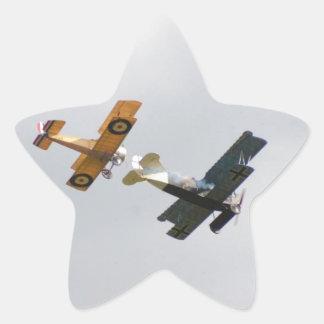 Sopwith Camel and Fokker D.VII Models Star Sticker
