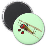 Sopwith Camel and Pilot 2 Inch Round Magnet