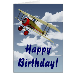 Sopwith Camel and Pilot Greeting Cards