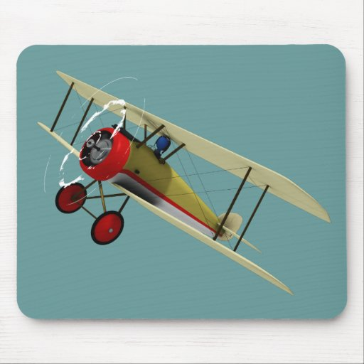 Sopwith Camel and Pilot Mouse Pad
