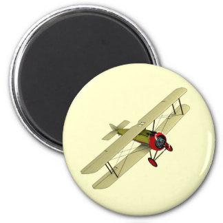 Sopwith Camel Biplane 2 Inch Round Magnet