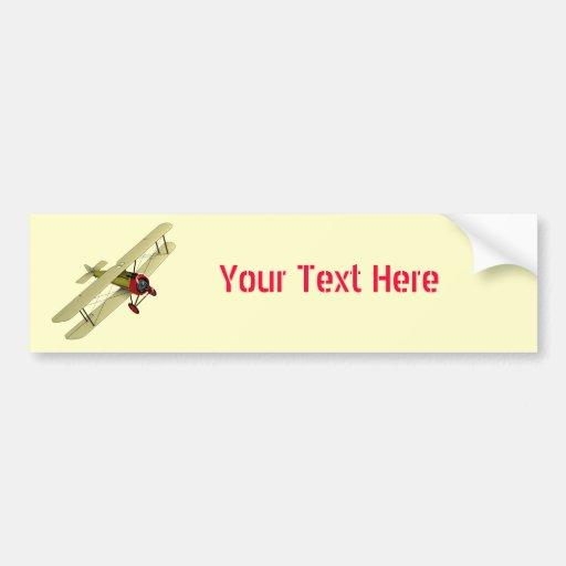 Sopwith Camel Biplane Bumper Sticker