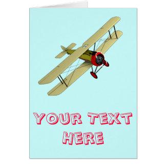 Sopwith Camel Biplane Greeting Card