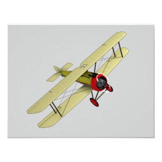 "Sopwith Camel Biplane 4.25"" X 5.5"" Invitation Card"