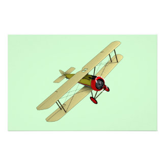 Sopwith Camel Biplane Stationery Paper