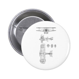 SOPWITH CAMEL 2 INCH ROUND BUTTON
