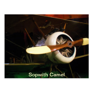 Sopwith Camel Engine Cowling and Propeller Postcard