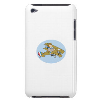 Sopwith Camel Scout Airplane Cartoon iPod Case-Mate Cases