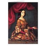 Sor Juana años de un los 15, bella arte de J. Sánc Tarjeta Pequeña