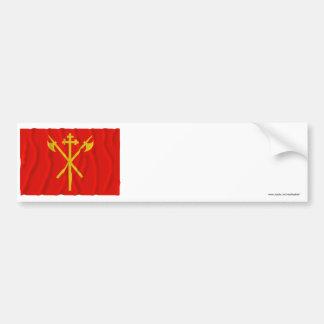 Sør-Trøndelag waving flag Bumper Sticker