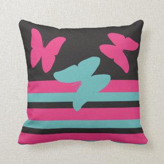 Sorbet Butterflies - Stripes - Modern Pillows