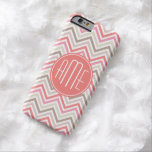 Sorbet Chevrons with Triple Monograms Barely There iPhone 6 Case