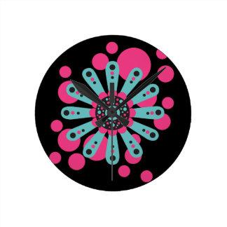 Sorbet Floral 01 - Modern Wall Clock