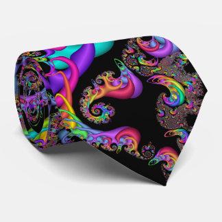 Sorbet Swirl Fractal Tie