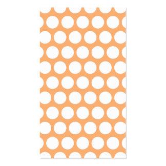 Sorbete anaranjado y lunares blancos plantillas de tarjetas personales
