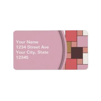 Sorbete del chicle etiqueta de dirección