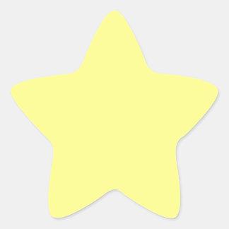 Sorbete del limón pegatina en forma de estrella