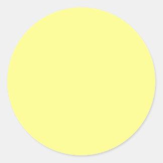 Sorbete del limón pegatina redonda