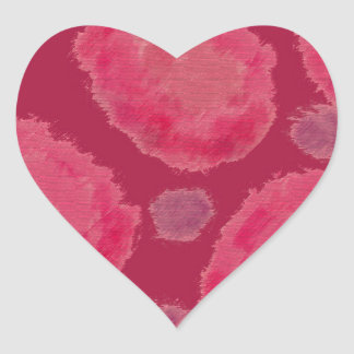 Sorbete oscuro calcomanías corazones