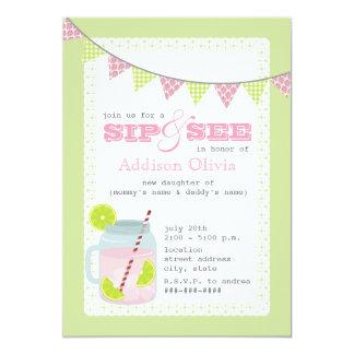 """Sorbo rosado y verde de la limonada y de la cal + invitación 5"""" x 7"""""""