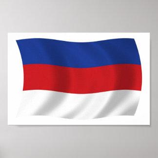 Sorbs Flag Poster Print