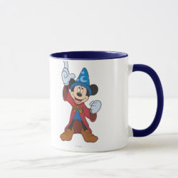 Combo Mug with Disney Fantasia's Mickey Mouse Sorcerer's Apprentice design
