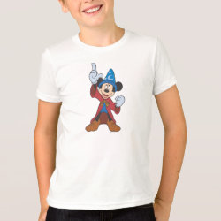 Kids' American Apparel Fine Jersey T-Shirt with Disney Fantasia's Mickey Mouse Sorcerer's Apprentice design
