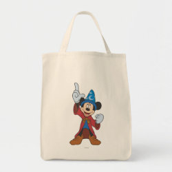 Grocery Tote with Disney Fantasia's Mickey Mouse Sorcerer's Apprentice design