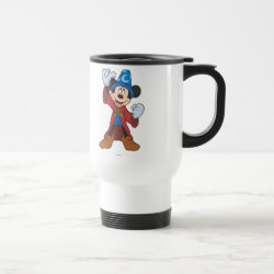 Travel / Commuter Mug with Disney Fantasia's Mickey Mouse Sorcerer's Apprentice design