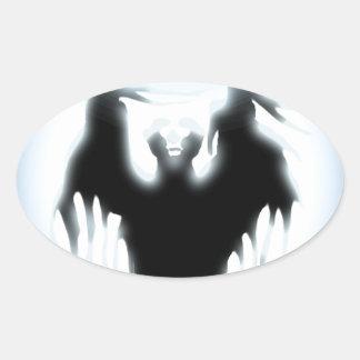 Sorcerer's Design Oval Sticker