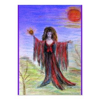 Sorceress at Twilight Invitation