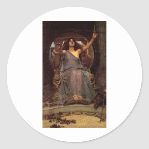 sorceress classic round sticker
