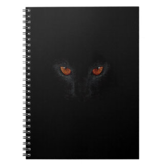 sorceress panther Salem hallowen carnival nig Spiral Notebooks