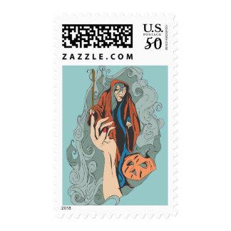 Sorceress Postage Stamp