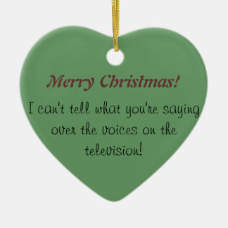 Sordo enojado: Conciencia sorda del navidad Adorno Navideño De Cerámica En Forma De Corazón