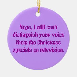 Sordo enojado: Televisión de Navidad y conciencia Adorno Navideño Redondo De Cerámica