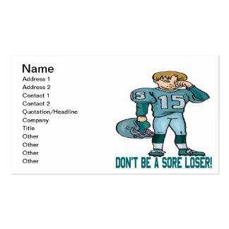 Sore Loser Business Card