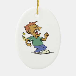 Sore Loser Double-Sided Oval Ceramic Christmas Ornament