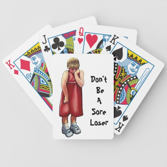 Sore Loser: Small Girl Pouting: Art: Humor Bicycle Playing Cards