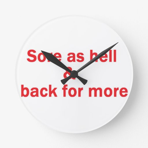 sore red wall clock