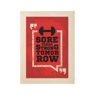 Sore today, strong tomorrow motivational poster