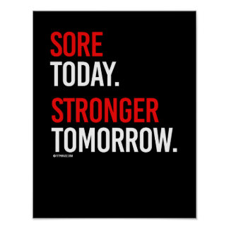 Sore today Stronger tomorrow -   Guy Fitness -.png Poster