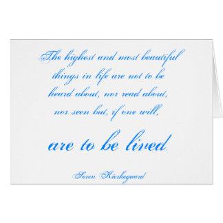 Soren Kierkegaard Card