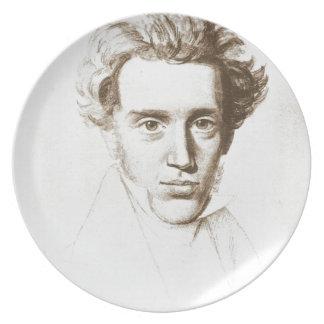 Søren Kierkegaard - Existentialist Philosopher Dinner Plate
