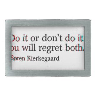Soren Kierkegaard Famous Quote Rectangular Belt Buckle