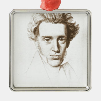 Søren Kierkegaard - filósofo existencialista Adorno Navideño Cuadrado De Metal