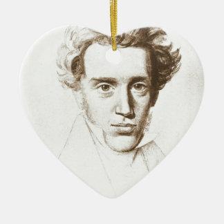 Søren Kierkegaard - filósofo existencialista Adorno Navideño De Cerámica En Forma De Corazón