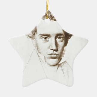 Søren Kierkegaard - filósofo existencialista Adorno Navideño De Cerámica En Forma De Estrella