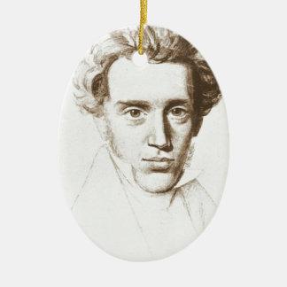 Søren Kierkegaard - filósofo existencialista Adorno Navideño Ovalado De Cerámica